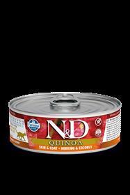 Farmina ND Quinoa Skin Coat Herring Feline Wet Food Cans