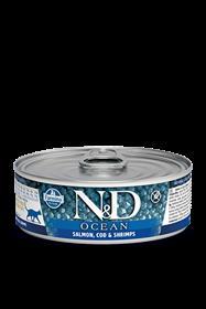 Farmina Salmon Cod and Shrimp Adult Feline Wet Food Cans