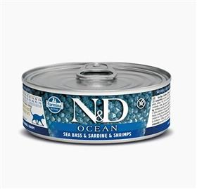 Farmina Sea Bass Sardine Shrimp Adult Feline Wet Food Cans