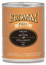 Fromm Chicken and Rice Pate Dog Food Can