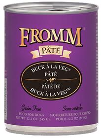 Fromm Duck a La Veg Pate Dog Food Can