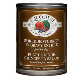 Fromm Shredded Turkey in Gravy Entree Dog Food Can