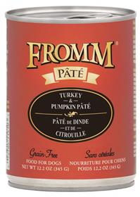 Fromm Turkey and Pumpkin Pate Dog Food Can