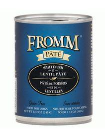 Fromm Whitefish and Lentil Pate Dog Food Can