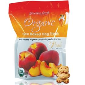 Grandma Lucys Peach Organic Oven Baked Dog Treat