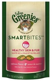 Greenies Feline SmartBites Healthy Skin Fur Salmon