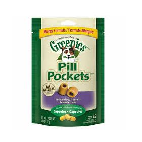 Greenies Pill Pockets Canine Roasted Duck and Pea Allergy Formula