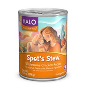 Halo Spots Stew for Dogs Wholesome Chicken Cans
