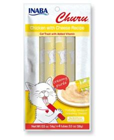 Inaba Churu Grain Free Chicken with Cheese Puree Lickable Cat Treat