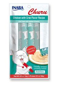 Inaba Churu Grain Free Chicken with Crab Flavor Puree Lickable Cat Treat