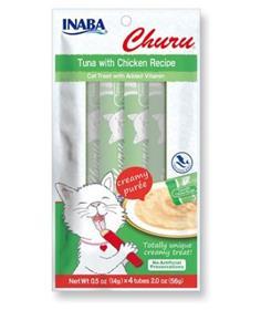Inaba Churu Grain Free Tuna with Chicken Puree Lickable Cat Treat
