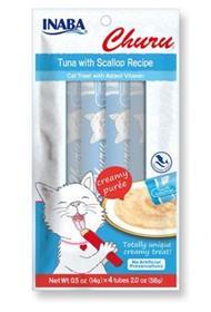 Inaba Churu Grain Free Tuna with Scallop Puree Lickable Cat Treat