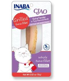 Inaba Ciao Grain Free Grilled Tuna Fillet Extra Tender in Tuna Flavored Broth Cat Treat