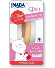 Inaba Ciao Grain Free Grilled Tuna Fillet in Crab Flavored Broth Cat Treat