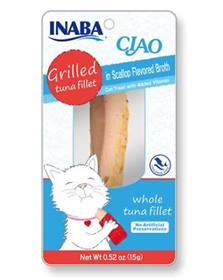 Inaba Ciao Grain Free Grilled Tuna Fillet in Scallop Flavored Broth Cat Treat