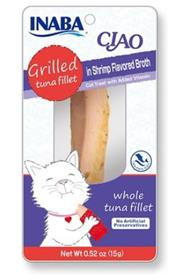Inaba Ciao Grain Free Grilled Tuna Fillet in Shrimp Flavored Broth Cat Treat
