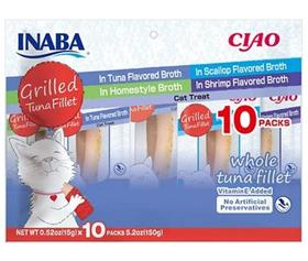 Inaba Ciao Grilled Tuna Fillet Variety Pack Grain Free Cat Treat