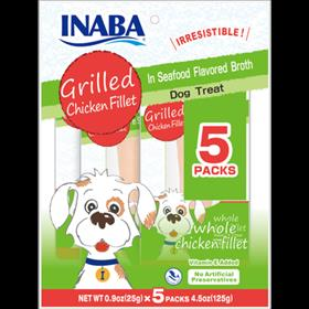 Inaba Grilled Chicken Fillets In Seafood Flavored Broth for Dogs