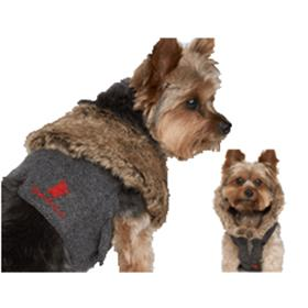 Juicy Couture Herringbone Dog Vest