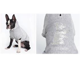Juicy Couture Sequin Scottie Hooded Shirt