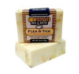 K9 Granola Factory Flea Tick Goats Milk Soap for Dogs