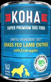 KOHA Grass Fed Lamb Entree Dog Food Can