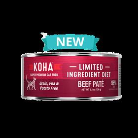 Koha Limited Ingredient Beef Pate Wet Cat Food