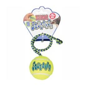 Kong AirDog Squeakair Ball with Rope