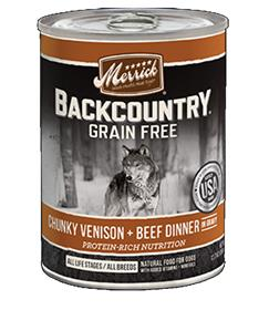 Merrick Backcountry Chunky Venison and Beef Can