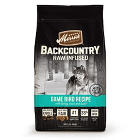 Merrick Backcountry Grain Free Raw Infused Game Bird Adult