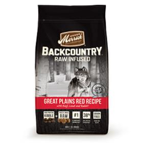 Merrick Backcountry Grain Free Raw Infused Great Plains Red Meat Adult