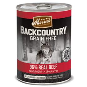 Merrick Backcountry Grain Free Real Beef Canned Dog Food