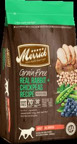 Merrick Grain Free Real Rabbit and Chickpeas Recipe