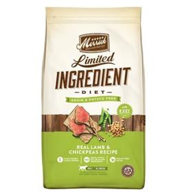 Merrick Limited Ingredient Grain Free Real Lamb Chickpeas Recipe Dry Dog Food