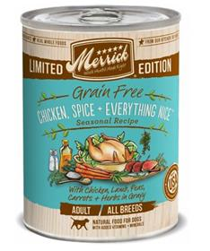 Merrick Spring Seasonals Grain Free Chicken Spice Everything Nice