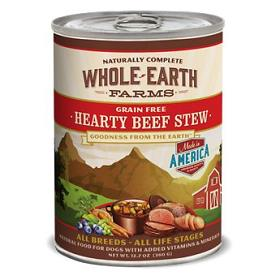 Merrick Whole Earth Farms Grain Free Hearty Beef Stew Canned Dog Food