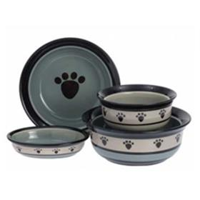 Metro Stoneware Dog Bowls