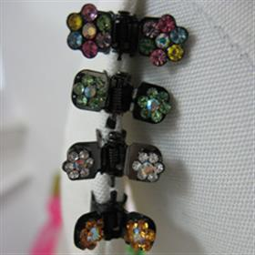 Mini Crystal Flower Hair Clasps