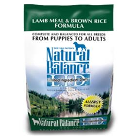 Natural Balance Lamb Meal and Brown Rice