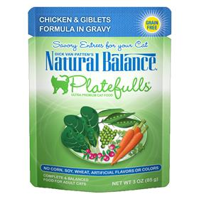 Natural Balance Platefulls Chicken and Giblets Formula in Gravy for Cats