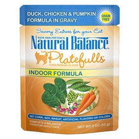 Natural Balance Indoor Formula Platefulls Duck Chicken and Pumpkin in Gravy for Cats