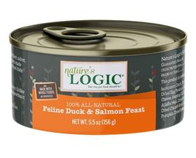 Natures Logic Cat Can Duck Salmon Feast