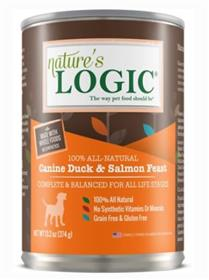Natures Logic Duck and Salmon Cans