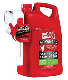 Natures Miracle Advanced Dog Stain Odor Remover Accushot Spray