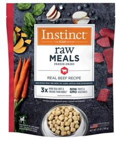 Natures Variety  Instinct Freeze Dried Raw Meals Grain Free Real Beef Recipe Dog Food