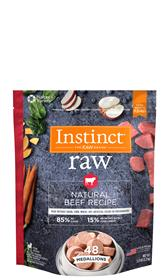 Natures Variety Instinct 85 15 Raw All Natural Beef Recipe for Dogs Medallions