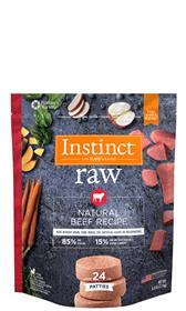 Natures Variety Instinct 85 15 Raw All Natural Beef Recipe for Dogs Patties