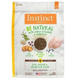 Natures Variety Instinct Be Natural Real Chicken and Brown Rice Recipe Dry Dog Food