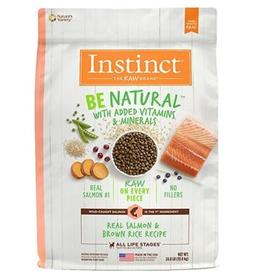 Natures Variety Instinct Be Natural Real Salmon and Brown Rice Recipe Dry Dog Food