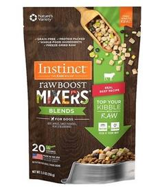 Instinct Freeze Dried Raw Boost Mixers Blends Grain Free Real Beef Recipe Dog Food Topper